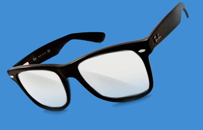 Белые стекла в очках