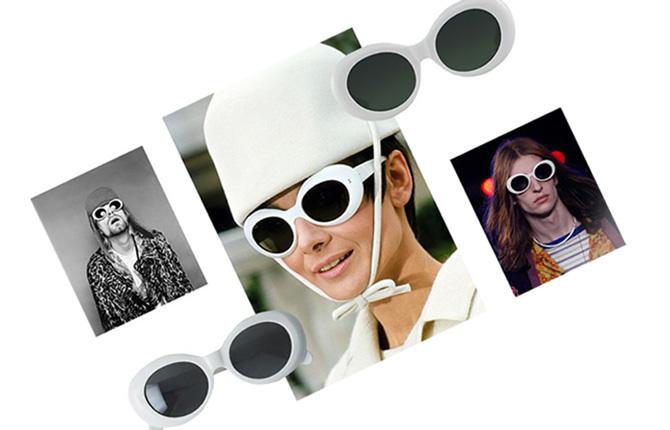 Модные очки с белой оправой