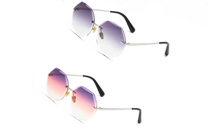 Современные безоправные очки
